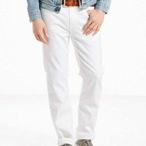 NWT Levi's 514 STRAIGHT FIT MEN'S JEANS White 1040